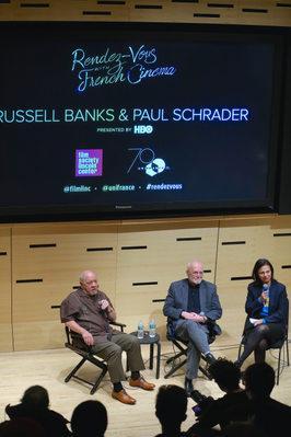 Balance de la 24ª edición de los Rendez Vous con el Cine Fancés en Nueva York - Rencontre Russell Banks/Paul Schrader - © Bestimage