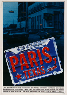 Paris, Texas - Poster Allemagne