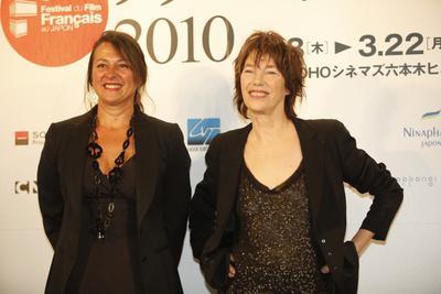 Japón: Reseña del Festival de cine Francés - Régine Hatchondo et Jane Birkin à Tokyo - © Pierre Olivier