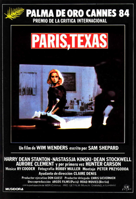 Paris, Texas - Poster Espagne