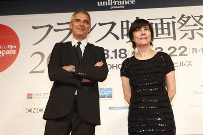 Japón: Reseña del Festival de cine Francés - Catherine Corsini et Laurent Cantet à Tokyo - © Pierre Olivier