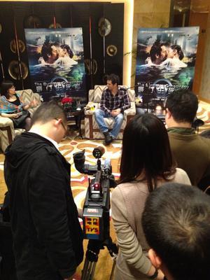 Tomer Sisley en China - Presse Canton