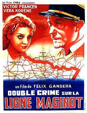 Double crime sur la ligne Maginot - Poster Belgique