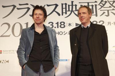 Japón: Reseña del Festival de cine Francés - Arnaud Desplechin et Mathieu Amalric à Tokyo - © Pierre Olivier