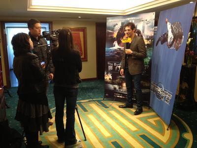 Tomer Sisley en China - Presse Pékin