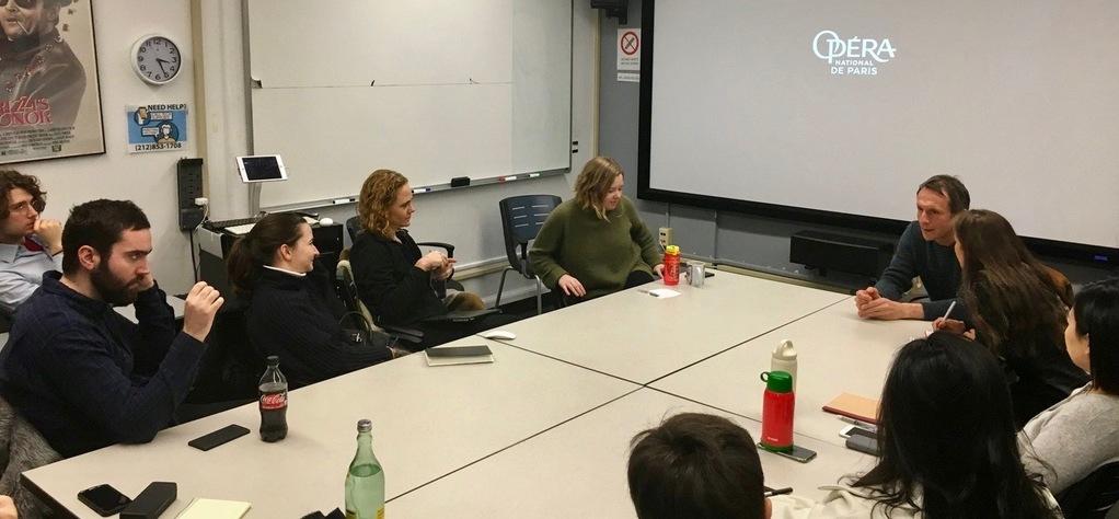 Philippe Martin imparte una clase magistral en la Universidad de Columbia
