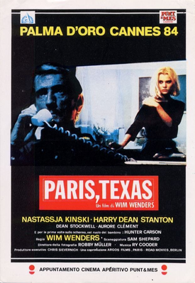 Paris, Texas - Poster Italie