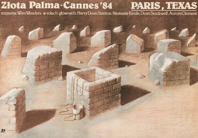 Paris, Texas - Poster Pologne