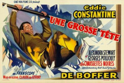 Une grosse tête - Poster Belgique