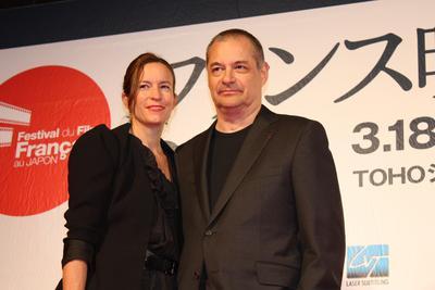 Japon : Compte rendu du Festival du film français - Jean-Pierre Jeunet et madame - © Pierre Olivier