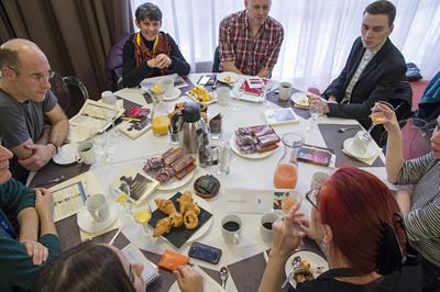 The UniFrance breakfasts at Clermont-Ferrand