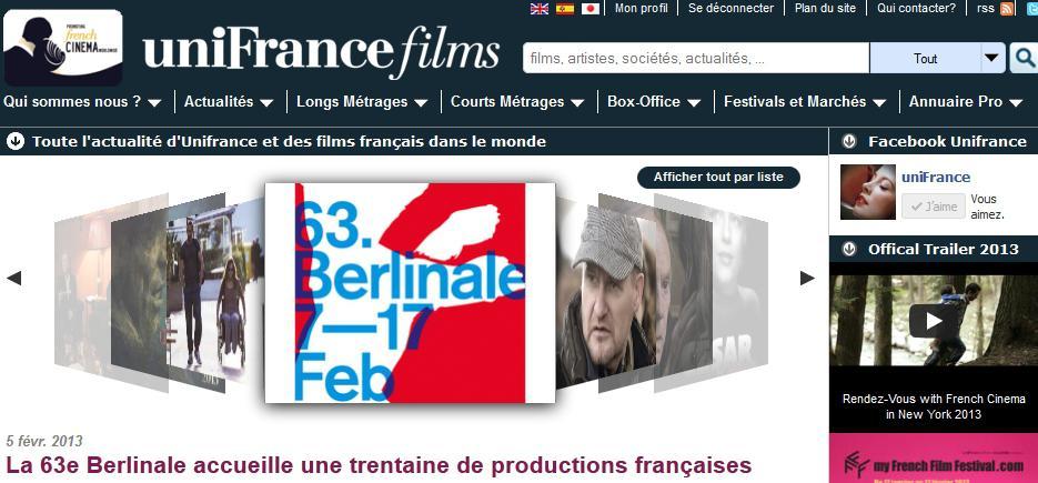 Récord de afluencia en Unifrance.org