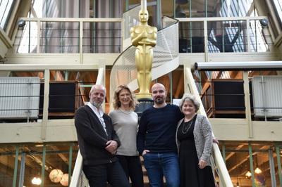 UniFrance y la Academia de los Óscars se asocian durante dos días en París, para apoyar el cine francés - Marc du Pontavice, Dawn Hudson, Jérémy Clapin et Bonnie Arnold (AMPAS) - © Giancarlo Gorassini - Bestimage / UniFrance