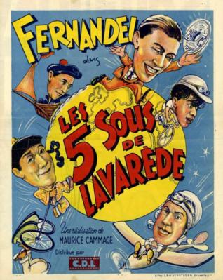 Les Cinq sous de Lavarède - Poster Belgique