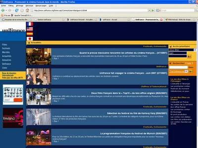 Nueva web de Unifrance - Unifrance.org V2
