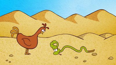 La Poule, l'éléphant et le serpent