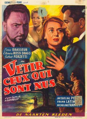 Vestire gli inudi - Poster Belgique