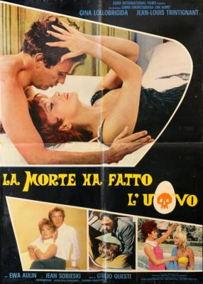 Dos menos uno, tres / La muerte ha puesto el huevo - Poster Italie
