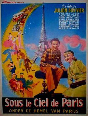 Sous le ciel de Paris - Poster Belgique