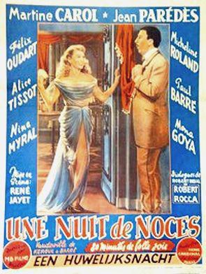 Une nuit de noces - Poster Belgique