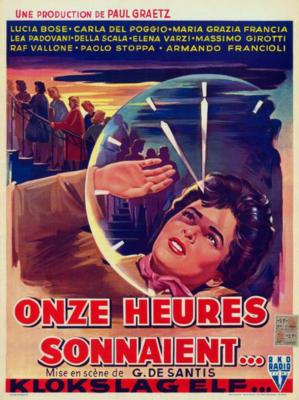 Onze heures sonnaient - Poster Belgique