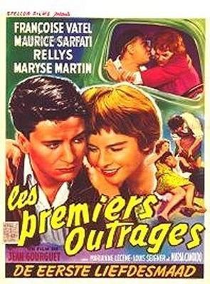 Les Premiers Outrages - Poster Belgique