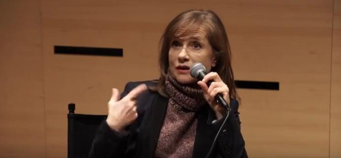 Isabelle Huppert au Lincoln Center, New York, Mars 2016 - Masterclass
