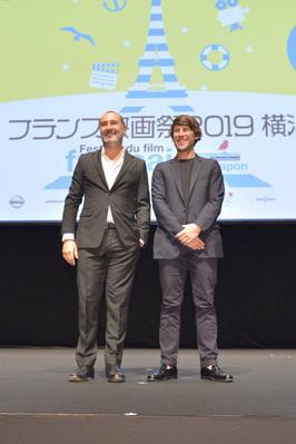 20 de junio – Inauguración del 27° Festival de Cine Francés de Japón - Gilles Lellouche et Hugo Sélignac rencontrent le public à la fin de la projection du Grand Bain