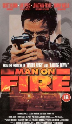 Man on Fire - Jaquette DVD Royaume-Uni