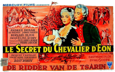 Le Secret du Chevalier d'Eon - Poster Belgique
