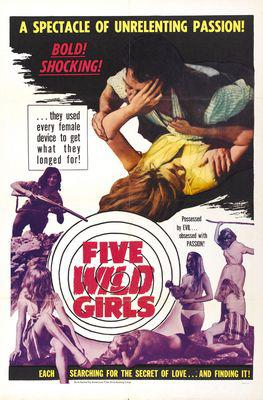 Five Wild Girls - Poster Etats-Unis