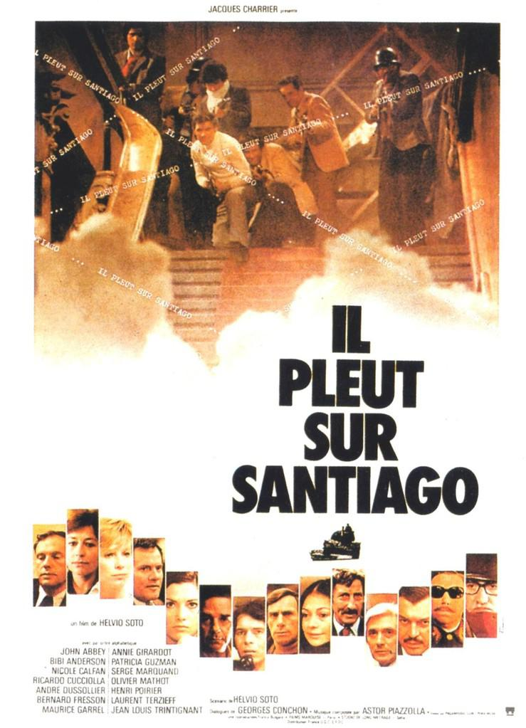 Il pleut sur Santiago - Poster France