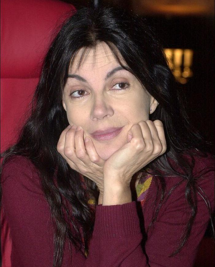 Canadian actress Carole Laure in Quebec for the filming of