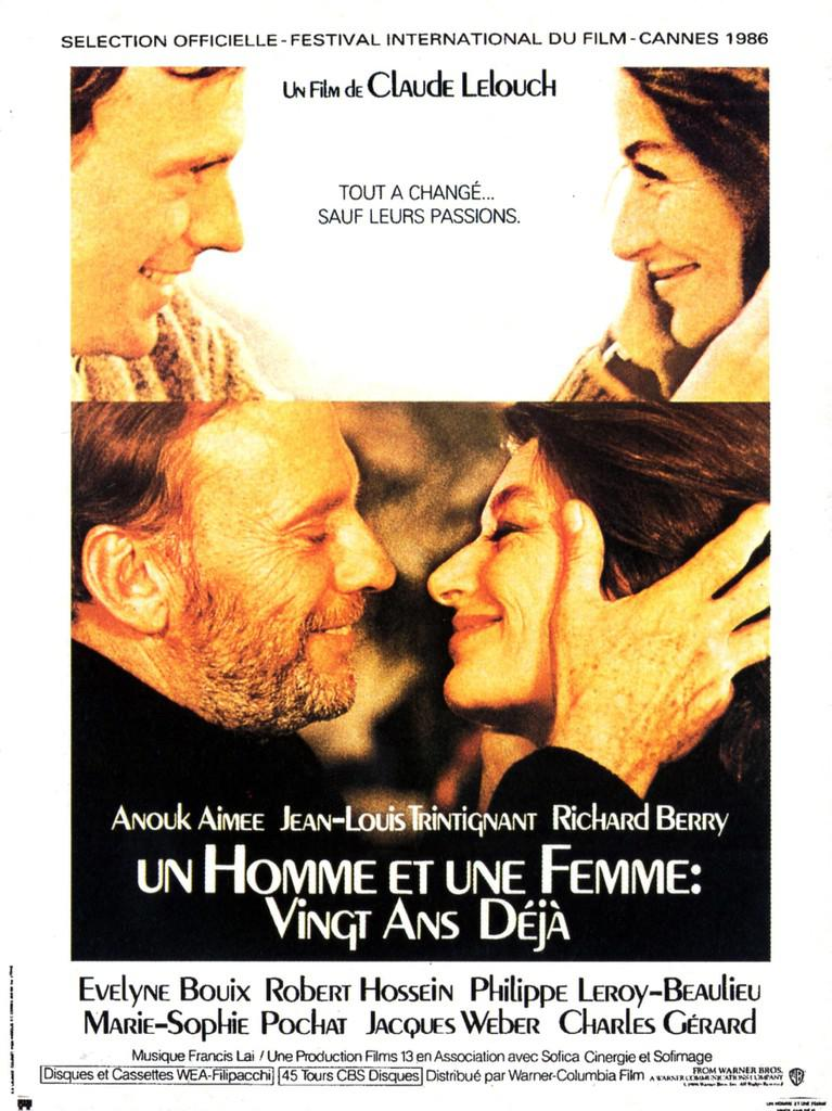 A Man And A Woman 20 Years Later De Claude Lelouch 1986