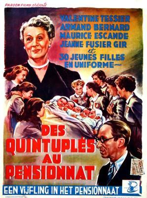 Des quintuplés au pensionnat - Poster Belgique