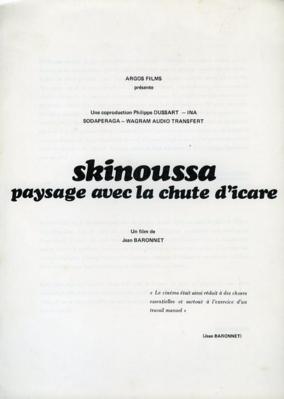 Skinoussa, paysage avec la chute d'Icare