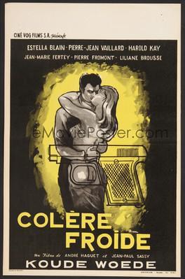 Colère froide - Poster Belgique