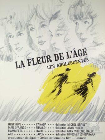 La Fleur de l'âge (ou Les Adolescentes) - Poster Québec