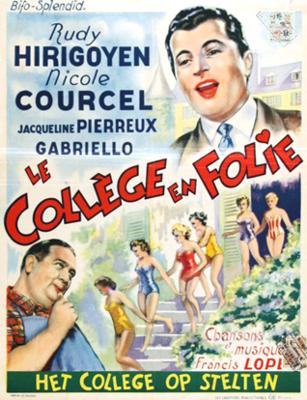 Le Collège en folie - Poster Belgique