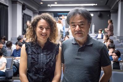 22 de junio, 2° día del Festival - Coralie Fargeat en masterclass modérée par Kiyoshi Kurosawa