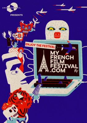 2021年もフランス映画とともに 第 11 回マイ・フレンチ・フィルム・フェスティバル(MyFFF) - Affiche réalisée par Julie Caty pour la 11e éditiond e MyFrenchFilmFestival