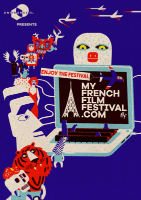 MyFrenchFilmFestival revient en 2021 pour une 11e édition - Affiche réalisée par Julie Caty pour la 11e éditiond e MyFrenchFilmFestival