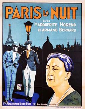 Paris la nuit - Poster Belgique