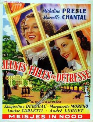 Jeunes filles en détresse - Poster Belgique