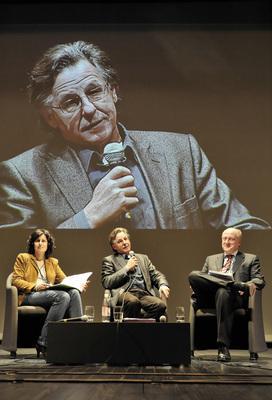 7th Franco-German Film Meetings - Alfred Hürmer, Valérie Lépine-Karnik, Peter Dinges - © Benoît Linder / French Co.