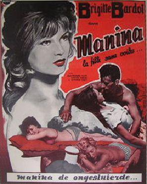 Manina, la fille sans voiles - Poster Allemagne