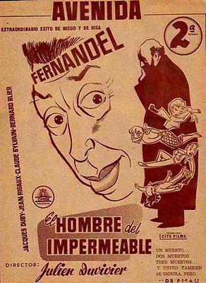 L'Homme à l'imperméable - Poster Espagne