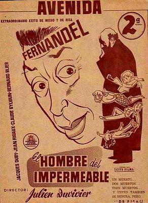 The Man in the Raincoat - Poster Espagne