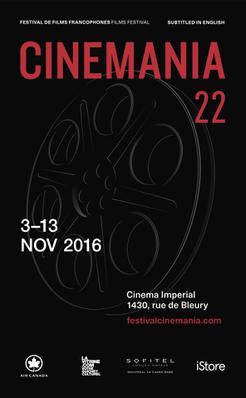 Festival de films francophones CINEMANIA - 2016