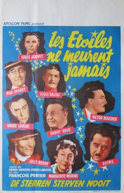 Les Etoiles ne meurent jamais - Poster Belgique